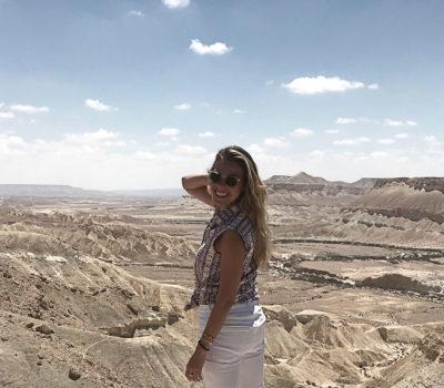 Marika Frumes in the desert