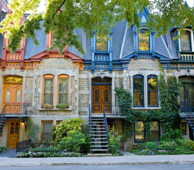 Montreal colourful houses