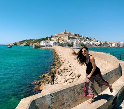 Travel writer, Dylan, in Ibiza
